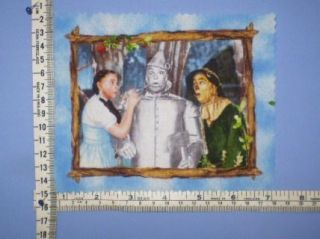 Wizard of oz Judy Garland as Dorothy Scarecrow Oil The Tinman Fabric