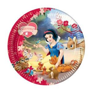 Snow White Disney Party 10 x Paper Plates Free Post