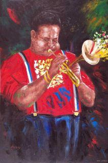 Dizzy Gillespie Trumpet Player Jazz Music Oil Painting