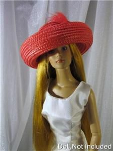 Straw a Doll Hat fits the Diana Doll and Tyler and Gene Marshall Dolls