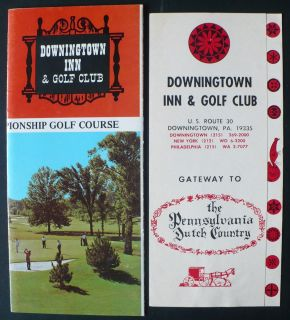 1970s Downingtown Inn Golf Club PA Brochures Maps Color Pictures