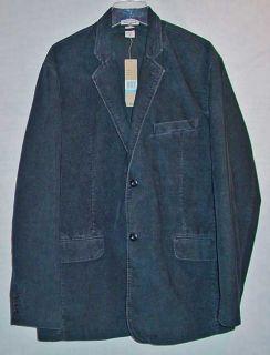 DKNY Jeans Mens Black Corduroy Blazer Sport Coat Jacket XL