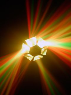 DMX Rotating LED Moonflower Effect DJ Light Sound Activated New