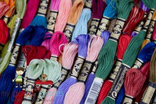 Lot 125 Skeins DMC Embroidery Floss Thread 100 Cotton New Your Color