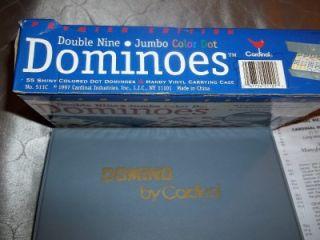 Cardinal Dominoes Double Nine Jumbo Color Dot Premier Edition Vinyl