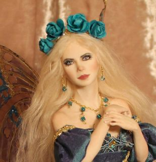 OOAK Fairy Aurora Art Doll Sculpture P Gibbons Fairies Art Dolls