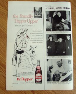 1958 Dr Pepper Soda Ad Surfing Theme