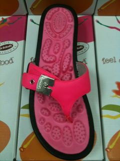 New Dr Scholls Feel Crazy Good Shout 2 Neon Pink Sandal Flip Flop