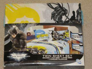 New Batman The Dark Knight Rises Twin Sheet Bedding Set