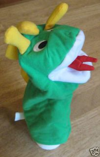 Saucer Baby Einstein Tray Toy Green Plush Puppet Dragon U