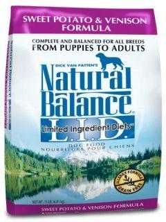 Natural Balance Sweet Potato and Venison Formula Dog Food, 15 Pound