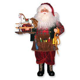 14 Karen Didion Toy Maker Santa Tool Apron 20H New In Box   Closeout