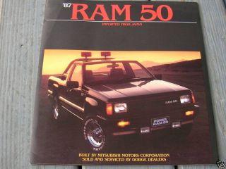 1987 87 Dodge RAM 50 Truck Sales Brochure Manual Book
