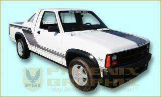 1989 Dodge Dakota Shelby Truck Decal Stripe Kit