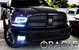 Dodge RAM 2009 2012 White Headlights Halos Angel Demon Eyes Kit