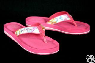 Coach Jolie 16cm Poppy Dream Multi Flip Flops Thongs Womens Shoes