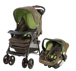 Dream on Me Travel System Stroller Car Seat in Brown 832631007079