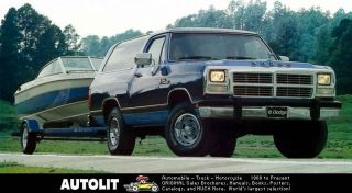 1990 Dodge Ramcharger Pickup Truck Factory Photo