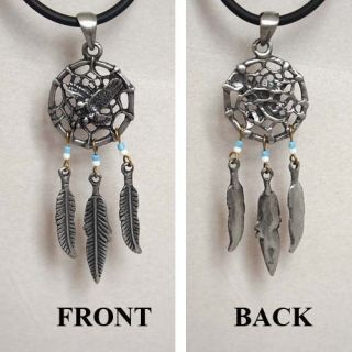 Aztec Dream catcher pewter/alloy Pendan t. Make your selection from