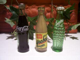 Cola Miniature Glass Bottles Mini Coke Soda Dr Pepper Drink
