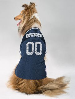 your dog ready for gameday with the dallas cowboys mesh dog jersey