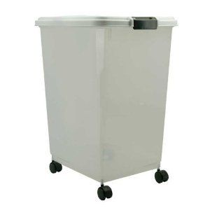 White Dry Dog Food Storage Container Containers 30 Qt