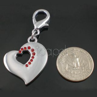 dog cat collar charm red rhinestone heart nothing says more
