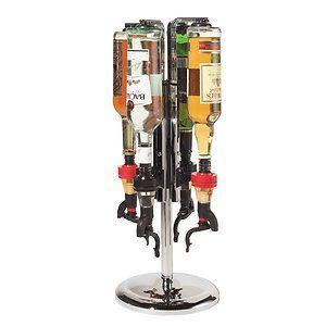 Rotating Wine Liquor Drink Dispenser Dispensers Bottle Holder Rack