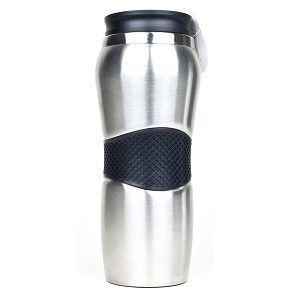 14 oz Stainless Steel Deluxe Travel Mug Keeps Drinks Hot or Cold
