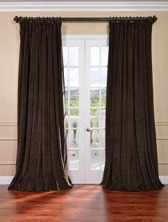 Java Double Wide Velvet Blackout Pole Pocket Curtains Drapes