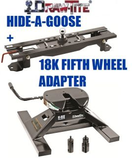 Drawtite Undrbed Gooseneck Trailer Hitch 18K Fifth 5th Wheel Adapter