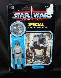 Vintage Star Wars AT ST Driver Figure with Special Collectors Coin