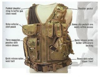Red Rock Outdoor Cross Draw Military Vest Olive Drab