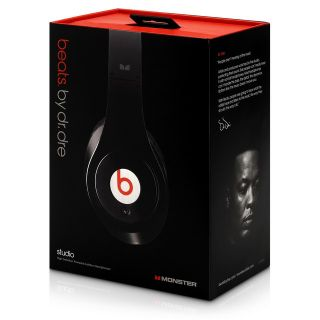Monster Beats by Dr Dre Studio Black Over The Head Headphones New