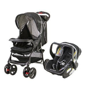 Dream on Me Wanderer Travel System Stroller and Car Seat Black