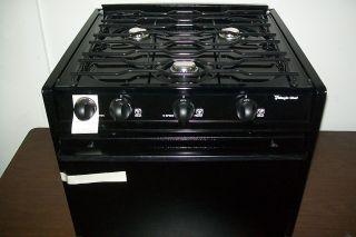 New Magic Chef RV 3 Burner LP Gas Stove Oven Range camper Trailer