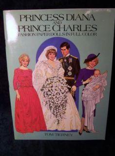 1985 Princess Diana Paper Dolls Uncut Tom Tierney