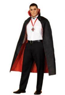 Red Black Mens Womens Unisex Dress Up Halloween Costume Cape