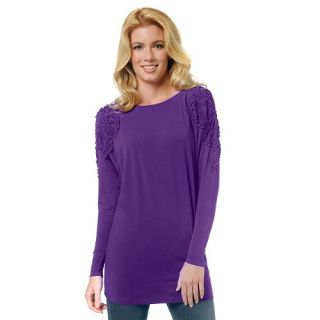 DG2 Gathered Ribbon Long Sleeve Doman Tee TEAL XL