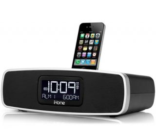 Dual Alarm Clock Radio for your iPhone/iPod with AM/FM presets