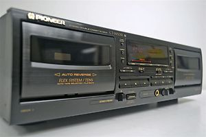 Pioneer Stereo Dual Cassette Deck Tape Player Recorder CT W505R
