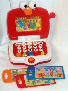 Sesame Street ELMO Laptop computer toy with cards learning letters
