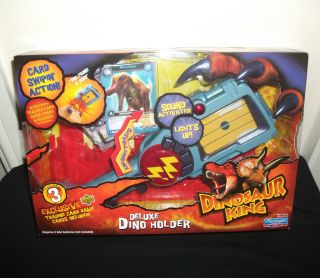 DINOSAUR KING DELUXE DINO HOLDER WITH TRADING CARDS GAME NEW UK
