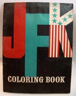 ERA SATIRE 1962 JFK UNCOLORED COLORING BOOK MORT DRUCKER MAD MAGAZINE