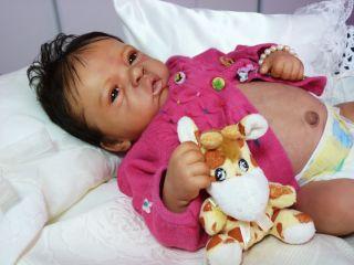 Reborn Ethnic Biracial Baby Girl Elodie Kit Elodie by Evelina Wosnjuk
