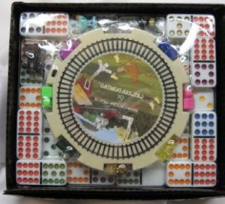 double 12 dominoes MEXICAN TRAIN GAME Color Dot  USA