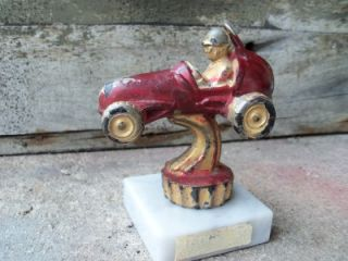 1950s Midget or Dirt Track Race Car Trophy . Nice collectable