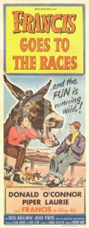 FRANCIS GOES TO THE RACES 1951 DONALD OCONNOR PIPER LAURIE INS