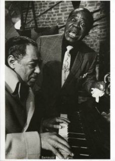 Jazz Musicians Duke Ellington Louis Armstrong Postcard