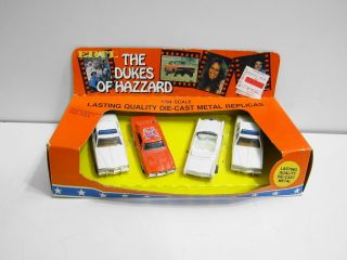 Ertl The Dukes of Hazzard 4 Pack with General Lee Others Die Cast Set